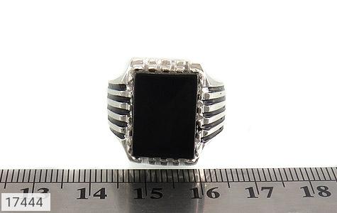 انگشتر عقیق سیاه درشت طرح سالار مردانه - تصویر 6
