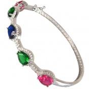 دستبند نقره النگویی زنانه