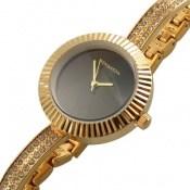 ساعت رمانسون Romanson طلائی مجلسی پرنگین زنانه