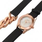 ساعت کلوین تایم بند چرمی Kelvin Time طرح دستبندی زنانه