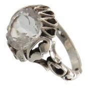 انگشتر دُر نجف تراش الماسه مردانه