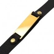 دستبند چرم طبیعی طرح کلاسیک