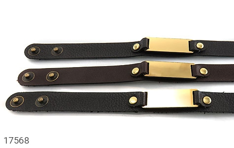 دستبند چرم طبیعی طرح کلاسیک - عکس 5