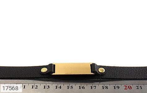 دستبند چرم طبیعی طرح کلاسیک - تصویر 6