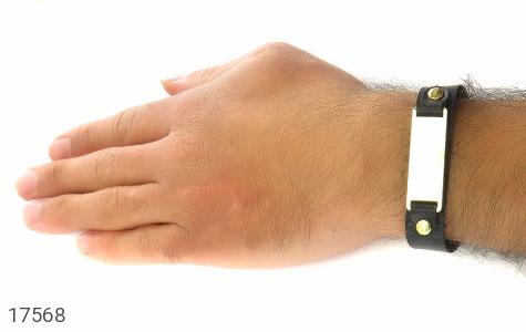 دستبند چرم طبیعی طرح کلاسیک - تصویر 8