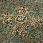 ترمه هفت رنگ رومیزی سایز بزرگ طرح اسلیمی