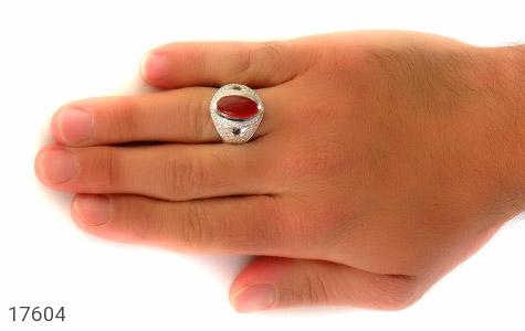 انگشتر آمتیست و عقیق هنر دست استاد یزدانی - عکس 7