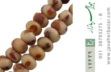 تسبیح 101 دانه هسته خرما اصل تراش دست - کد 17629