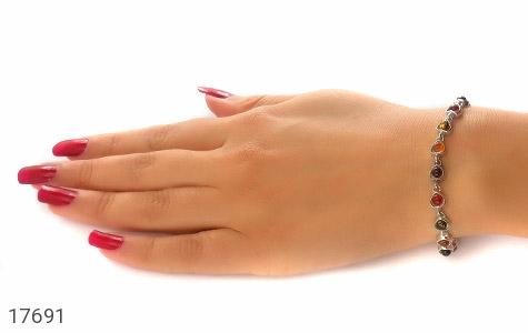 دستبند کهربا بولونی لهستان طرح عشق زنانه - تصویر 6