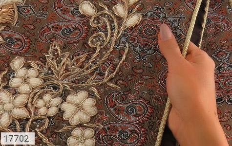 ترمه نگین تزئینی هنر دست - تصویر 4