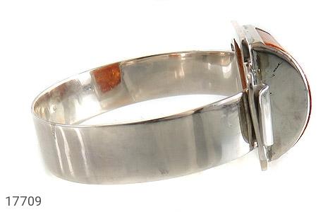 دستبند کهربا لهستان بولونی تک نگین درشت زنانه - عکس 3