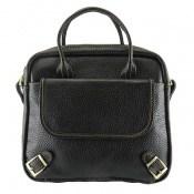 کیف چرم طبیعی مشکی مدل دستی و دوشی بسیار زیبا زنانه