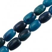 تسبیح عقیق 33 دانه تراش استوانه ای آبی خوش رنگ