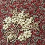 ترمه رومیزی سایز بزرگ طرح سنتی