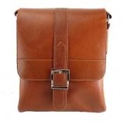 کیف چرم طبیعی دوشی طرح اسپرت