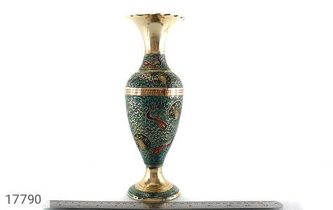تندیس برنج کشمیری طرح گلدان میناکاری سایز 2 - تصویر 10