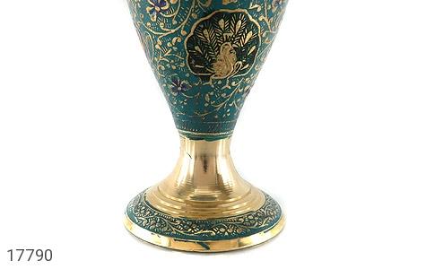 تندیس برنج کشمیری طرح گلدان میناکاری سایز 2 - تصویر 6