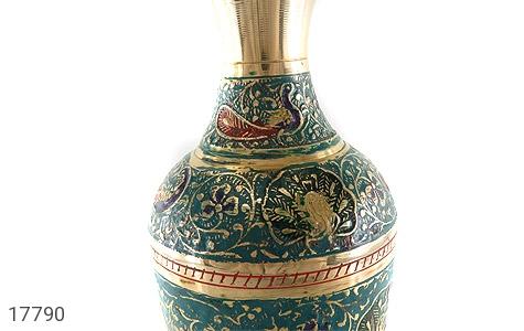 تندیس برنج کشمیری طرح گلدان میناکاری سایز 2 - عکس 7