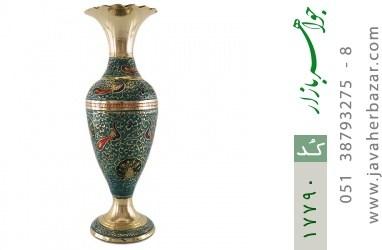 تندیس برنج کشمیری طرح گلدان میناکاری سایز 2 - کد 17790