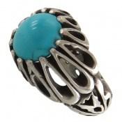 انگشتر فیروزه نیشابوری خوش طبع و رنگ مردانه