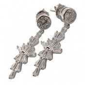 گوشواره نقره مجلسی الماس نشان زنانه
