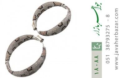 گوشواره نقره درشت و باشکوه طرح پلنگی زنانه - کد 18088