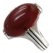 انگشتر عقیق قرمز درشت طرح کلاسیک مردانه