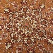 ترمه ابریشم رومیزی گرد سایز بزرگ طرح فاخر