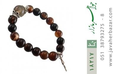 دستبند عقیق جزع زنانه - کد 18217