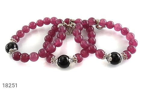 دستبند جید بنفش آویز قلب زنانه - عکس 3