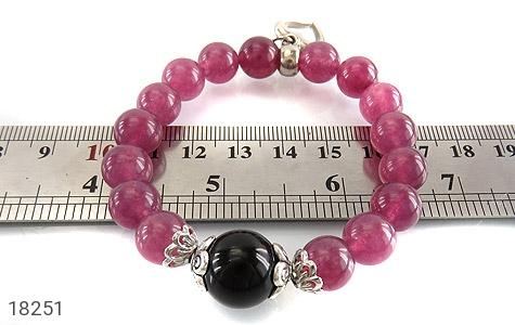 دستبند جید بنفش آویز قلب زنانه - تصویر 4