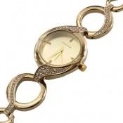 ساعت رمانسون Romanson پرنگین طرح بند حلقهای زنانه