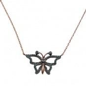 سینه ریز نقره نانو طرح پروانه زنانه