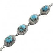 دستبند فیروزه نیشابوری فاخر و ارزشمند زنانه
