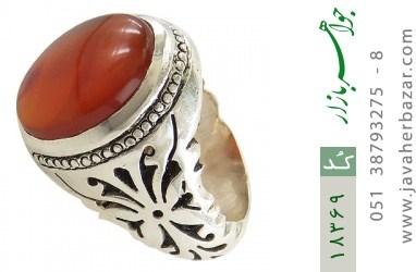 انگشتر عقیق یمن رکاب دست ساز - کد 18369