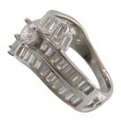 انگشتر نقره سولیتر طرح یگانه زنانه