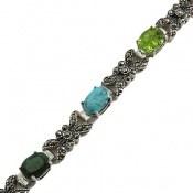 دستبند چندنگین سلطنتی بی نظیر و فاخر زنانه