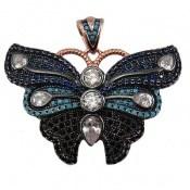 مدال نقره طرح نانو پروانه زنانه