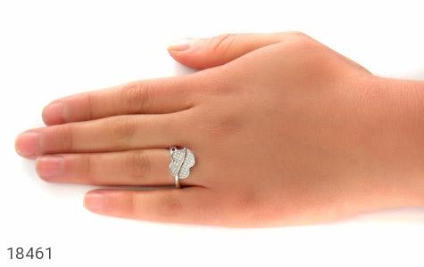 انگشتر نقره طرح مهرسا زنانه - عکس 7