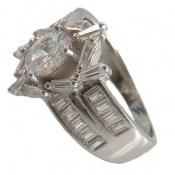 انگشتر نقره سولیتر طرح پرنسس زنانه