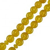 تسبیح جید زرد درشت 33 دانه
