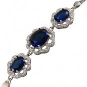 دستبند نقره مجلسی طرح مهگل زنانه