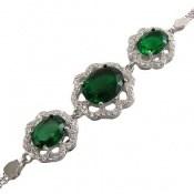 دستبند نقره مجلسی طرح نازگل زنانه