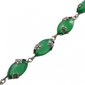 دستبند عقیق سبز فاخر طرح فاخر زنانه