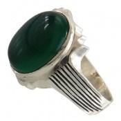انگشتر عقیق سبز طرح رایان مردانه