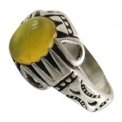 انگشتر عقیق زرد شرف الشمس طرح آریا مردانه