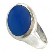 انگشتر عقیق آبی صفوی طرح پاشا مردانه