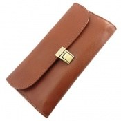 کیف چرم طبیعی دستی شیک رنک قهوه ای