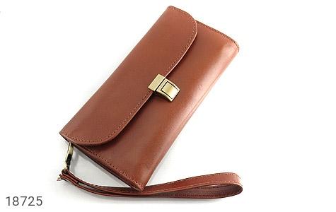 کیف چرم طبیعی دستی شیک رنک قهوه ای - عکس 1