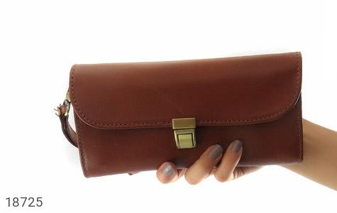 کیف چرم طبیعی دستی شیک رنک قهوه ای - تصویر 8